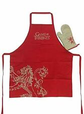More details for game of thrones lannister chefs apron & oven mitt set