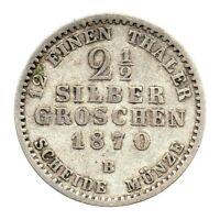 KM# 486 - 2 & 1/2 Silber Groschen - Kingdom of Prussia - German States 1870B (F)