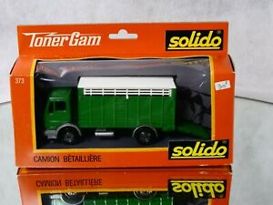 Solido N°373 Truck Cattle Trailer Mercedes New IN Box 1/43