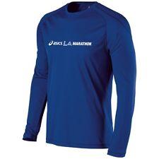 Asics LA Marathon Long Sleeve Tech Tee Shirt - Air Force Blue
