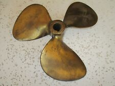 Vintage Bronze Boat Propeller for Display - Very Nice, 12 Inch - Nautical Decor