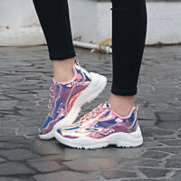 Womens Sneaker Non Slip Metallic Leather Glitter Fashion Sneakers Shoes Lace Up