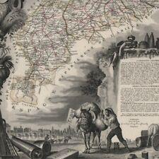 La Haute-Garonne - - Géographie Département France - Carte ancienne 1851