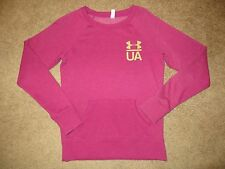 UNDER ARMOUR COLD GEAR PINK PURPLE CHARGED COTTON LEGACY CREW SWEATSHIRT NWT S