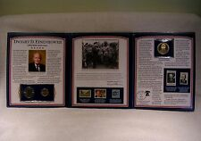 Dwight D. Eisenhower 125th Anniversary Commemorative PCS Stamp & Coin Collection