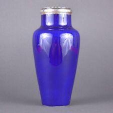Miniature vase en céramique de Sèvres par Paul Milet monté en argent