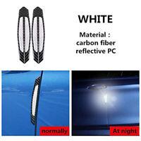 4Pcs White Universal Car Wheel Rim Reflective Warning Strip Sticker Safety