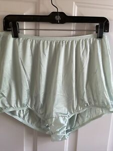 Vintage Vanity Fair Nylon Green Granny Panties full Briefs Sissy Size 9 2XL