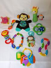 Infant Toy Lot 11 Developmental Infant Toys Sensory Baby Teether Rattles Lovey