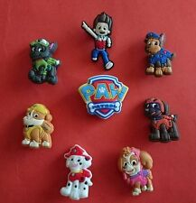 8 Paw Patrol jibbitz crocs wrist hair loom band shoe charms cake toppers