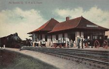 OH - 1900's C. A. & C Railroad Depot at Mount Vernon, Ohio - Knox County