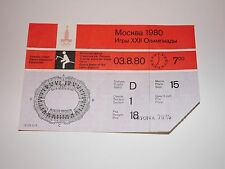 Soviet USSR Moscow Olympic Games Ticket 1980 Equestrian Sports  #15