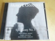 GORECKI - Symphony 3 - CD Album - David Zinman - 1992