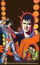Elvis Presley Blacklight Poster Replica 60's, 70's Vinyl LP Sticker, Magnet