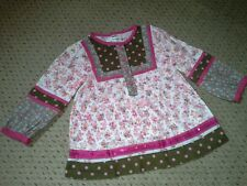 GIRLS M&S  BRIGHTLY COLOURED PINK & BROWN TOP SEQUINS BNWOT AGE 11/2-2 YEARS