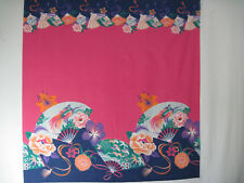 Asian Border Print Cotton Fabric by the yard