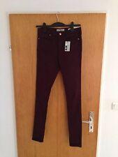 NEU Topshop Moto Leigh Jeans Tall W30 L36 rot Überlänge Jeggings Blogger weinrot