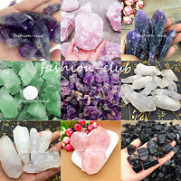 50g Lots Natural Quartz Crystal Gemstone Rock Raw Stone Rough Healing 6Colors