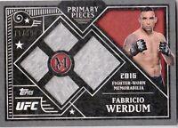 2016 TOPPS UFC MUSEUM COLLECTION PRIMARY PIECES CARD PPQ-FW FABRICIO WERDUM /99