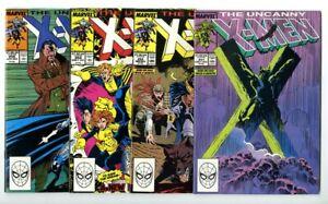 Uncanny X-Men #251,252,254,256 Avg NM New Marvel Collection