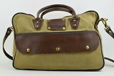 Woolrich by FROST RIVER Duffle Bag Waxed Canvas Leather