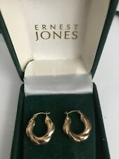9CT Gold chunky earings 1.65 grams 2cm
