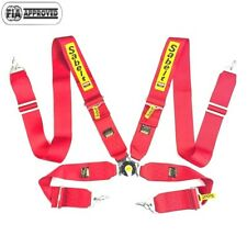 """Sabelt Universal Red 4 Point Camlock Quick Release Racing Seat Belt Harness 3"""""""