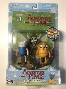 Adventure Time Comic Book Pack Issue # 1 Finn and Jake Figure Free Shipping!