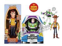 Disney Store Toy Story 4 INTERACTIVE TALKING BUZZ LIGHTYEAR & WOODY 2020 LOT 2