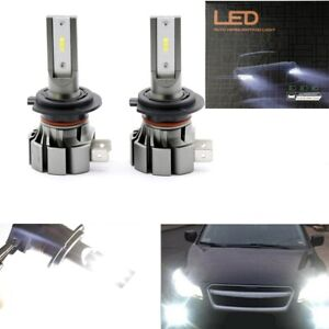 Pair 56W H7 CSP LED Headlights High Low Beam Bulb Kit White 6000LM Super Bright