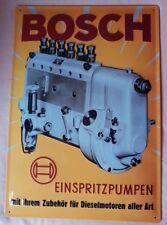 Bosch Werbeschild Blechschild 34 X 49 cm Einspritzpumpen