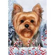 Winter House Flag - Yorkshire Terrier Yorkie Pup 15108