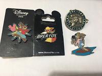 Disney Splash Mountain Brer Rabbit Fox 4 Pin Lot MUST SEE Rare Pin
