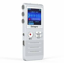 Digital Voice Activated Recorder Dictopro Double Microphone HD Recording 8GB New