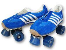 Blue and White Sneaker Vintage Style Roller Skates Mens Size 9 Vintage Retro