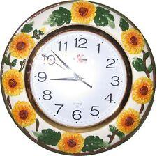 Sunflower embossed Ceramic Wall Clock
