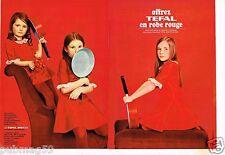 Publicité advertising 1970 (2 pages) Les Poeles et Casseroles Tefal