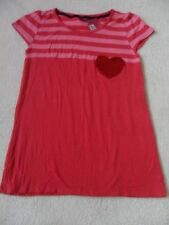 EX M&S RED MIX SEQUIN SPARKLE HEART STRIPE VISCOSE + STRETCH TOP AGE 13-14