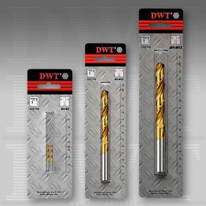 DWT HSS-TiN Metall Bohrer / Spiralbohrer mit Durchmesser von Ø 1 mm bis Ø 13 mm