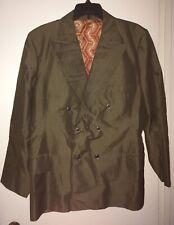 Men's Vtg 70-80's Suit Double Breast Button Suit Coat & Pants