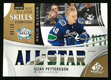 2019-20 SP Game Used Elias Pettersson All Star Skills Relic Blends Patch 8/15