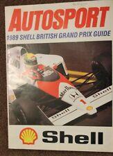 AUTOSPORT 1989 SHELL BRITISH GRAND PRIX GUIDE SUPPLEMENT, Ayrton Senna