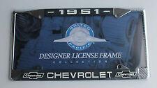 1951 Chevrolet 51 Chevy Chrome License plate frame NEW