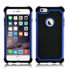 Sooper Heavy Duty Survivor Protective Hybrid Defender Case for iPhone 6s Plus Blue