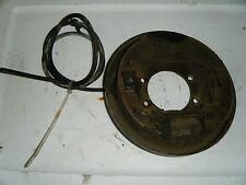 1997 Suzuki King Quad 300 ATV Left Front Brake Backing Plate and Wheel Cylinder