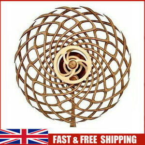 Handmade Wooden Windmill Reversal Statue Retro Kinetic Sculpture whirling 2021