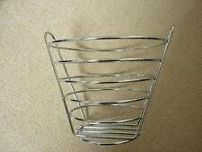 Chrome Metal Deep Fruit Bowl Basket Holder Nest Wire Rack Basket - Collection