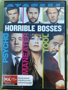 Horrible Bosses 1 DVD Movie. Free Postage. Copy Protected. Region 4.