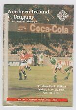 Original PRG     18.05.1990    NORDIRLAND - URUGUAY  !!  SELTEN