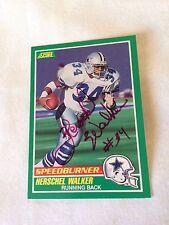 Herschel Walker VINTAGE HAND SIGNED '89 Score Speed-burner Card  w/COA